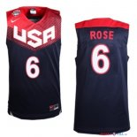 2014 USA - Maillot NBA Rose 6 Noir