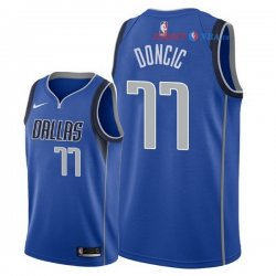 Dallas Mavericks - Maillot NBA Luka Doncic 77 Bleu Icon 2018