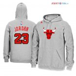 Chicago Bulls - Sweat Capuche NBA Michael Jordan 23 Gris