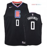 Los Angeles Clippers - Maillot Junior NBA Sindarius Thornwell 0 Noir Statement 2018