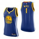 Golden State Warriors - Maillot Femme NBA JaVale McGee 1 Bleu Icon 2017/2018