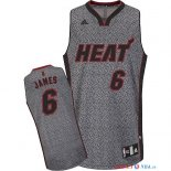 Miami Heat - Maillot NBA James 6 2013 Static Fashion