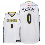 Denver Nuggets - Maillot Junior NBA Isaiah Thomas 0 Blanc Association 2018
