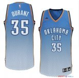 Oklahoma City Thunder - Maillot NBA Durant 35 Bleu Retentisse Fashion