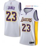 Los Angeles Lakers - Maillot Junior NBA Lebron James 23 Blanc Association 2017/2018