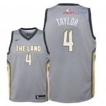 Cleveland Cavaliers - Maillot Junior NBA Isaiah Taylor 4 Nike Gris Ville 2018