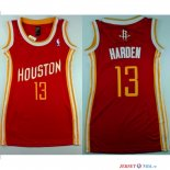 Houston Rockets - Maillot Femme NBA James Harden 13 Retro Rouge