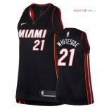 Miami Heat - Maillot Femme NBA Hassan Whiteside 21 Noir Icon 2018
