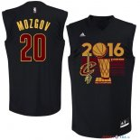 Cleveland Cavaliers - Maillot NBA Timofey Mozgov 20 Noir 2016 Finales Champions