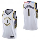 Indiana Pacers - Maillot NBA Lance Stephenson 1 Blanc Association 2017/2018