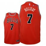 Chicago Bulls - Maillot Junior NBA Justin Holiday 7 Rouge Icon 2018