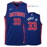 Detroit Pistons - Maillot Junior NBA James Ennis III 33 Bleu Icon