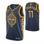 Golden State Warriors - Maillot NBA Klay Thompson 11 Marine Ville 2019 Finales Champions