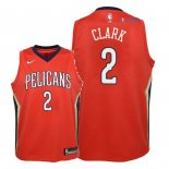 New Orleans Pelicans - Maillot Junior NBA Ian Clark 2 Rouge Statement 2018