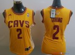 Cleveland Cavaliers - Maillot Femme NBA Kyrie Irving 2 Blanc Bande