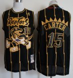 Toronto Raptors - Maillot NBA Vince Carter 15 Retro Or Noir 1998-99