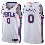 Philadelphia Sixers - Maillot NBA Jerryd Bayless 0 Blanc Association 2017/2018