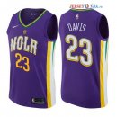 New Orleans Pelicans - Maillot NBA Anthony Davis 23 Nike Pourpre Ville 2017/2018