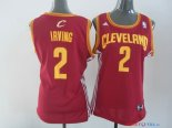 Cleveland Cavaliers - Maillot Femme NBA Kyrie Irving 2 Rouge Jaune