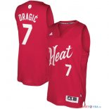 Miami Heat - Maillot NBA Goran Dragic 7 Rouge 2016 Noël