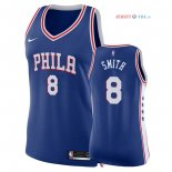 Philadelphia Sixers - Maillot Femme NBA Zhaire Smith 8 Bleu Icon 2018