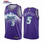 Utah Jazz - Maillot NBA Jarrell Brantley 5 Pourprel Hardwood Classics 2019-20