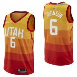 Utah Jazz - Maillot NBA Joe Johnson 6 Nike Jaune Ville 2017/2018