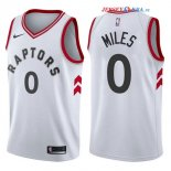 Toronto Raptors - Maillot NBA CJ Miles 0 Blanc Association 2017/2018