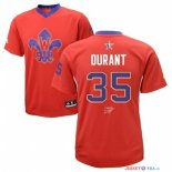 2014 All Star - Maillot NBA Kevin Durant 35 Rouge