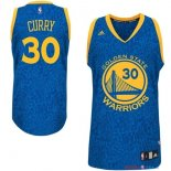 Golden State Warriors - Maillot NBA Curry 30 Bleu Luz Lumière Leopard
