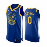 Golden State Warriors-Maillot NBA D'Angelo Russell 0 Bleu Icon Edition