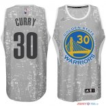 Golden State Warriors - Maillot NBA Curry 30 Gris Ville Lumières