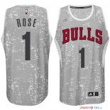 Chicago Bulls - Maillot NBA Rose 1 Blanc Ville Lumières