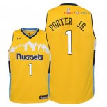 Denver Nuggets - Maillot Junior NBA Michael Porter Jr 1 Jaune Statement 2018