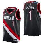 Portland Trail Blazers - Maillot NBA Evan Turner 1 Noir Icon 2017/2018