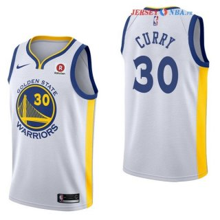 Golden State Warriors - Maillot NBA Stephen Curry 30 Blanc 2017/2018
