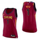 Cleveland Cavaliers - Maillot Femme NBA Derrick Rose 1 Rouge Icon 2017/2018