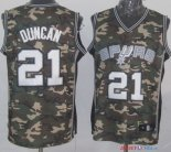 2013 Camouflage Fashion - Maillot NBA Duncan 21