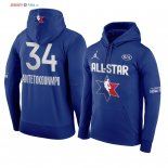 2020 All Star - Sweat Capuche NBA Giannis Antetokounmpo 34 Bleu