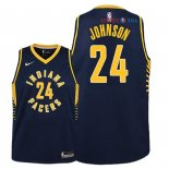 Indiana Pacers - Maillot Junior NBA Alize Johnson 24 Marine Icon 2018/2019