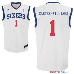 Philadelphia Sixers - Maillot NBA Michael Carter Williams 1 Blanc