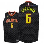 Atlanta Hawks - Maillot Junior NBA Omari Spellman 6 Noir Icon 2018/2019