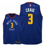 Denver Nuggets - Maillot Junior NBA Torrey Craig 3 Bleu Statement 2018/2019