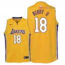 Los Angeles Lakers - Maillot Junior NBA Joel Berry II 18 Jaune Icon 2018