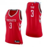 Houston Rockets - Maillot Femme NBA Chris Paul 3 Rouge Icon 2017/2018
