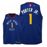 Denver Nuggets - Maillot Junior NBA Michael Porter Jr 1 Bleu Statement 2018/2019