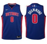 Detroit Pistons - Maillot Junior NBA Andre Drummond 0 Bleu Icon