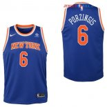New York Knicks - Maillot Junior NBA Kristaps Porzingis 6 Bleu