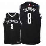 Brooklyn Nets - Maillot Junior NBA Spencer Dinwiddie 8 Noir Icon 2018