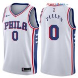 Philadelphia Sixers - Maillot NBA Jacob Pullen 0 Blanc Association 2017/2018